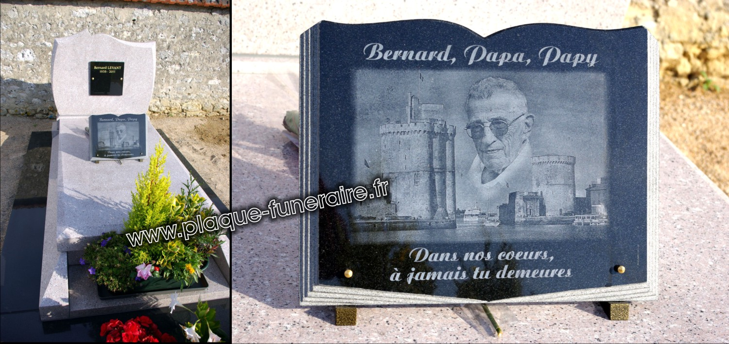 plaque funeraire en granit personnalisable. Black Bedroom Furniture Sets. Home Design Ideas