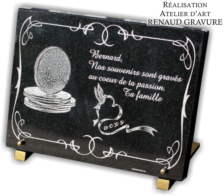 plaque fun raire personnalis e en photos. Black Bedroom Furniture Sets. Home Design Ideas