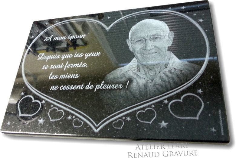 plaque funeraire coeur personnaliser dessins coeurs sur plaque mortuaire. Black Bedroom Furniture Sets. Home Design Ideas