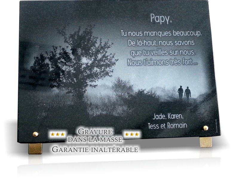 photos de plaques fun raires photo personnalis es en granit ou verre. Black Bedroom Furniture Sets. Home Design Ideas