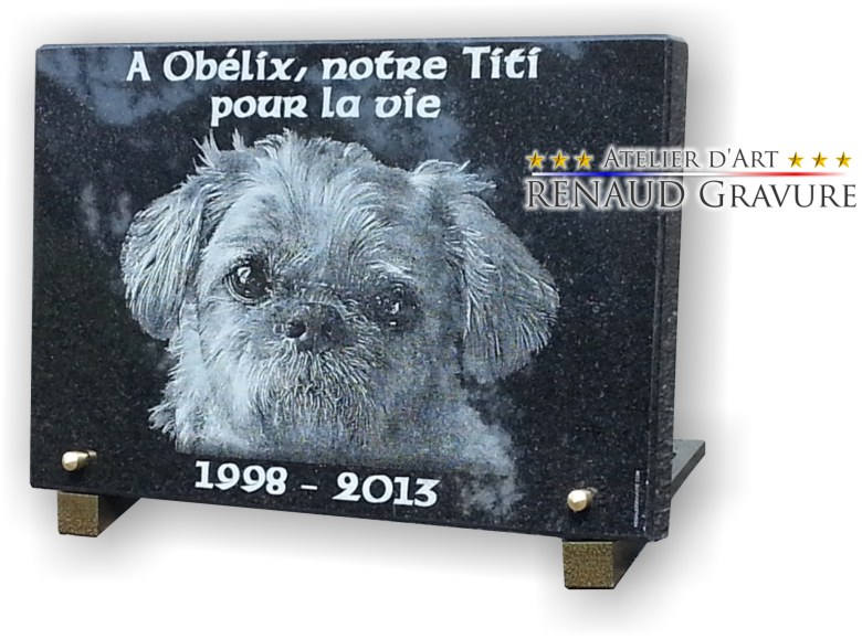 Grave plaque for small dog