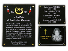 Les plaques funéraires à visser