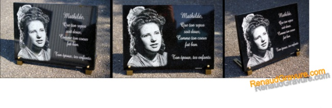 Photo plaque funeraire