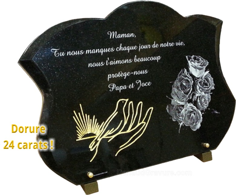 stone m mo plaques et urnes fun raires autrement plaque mortuaire originale. Black Bedroom Furniture Sets. Home Design Ideas
