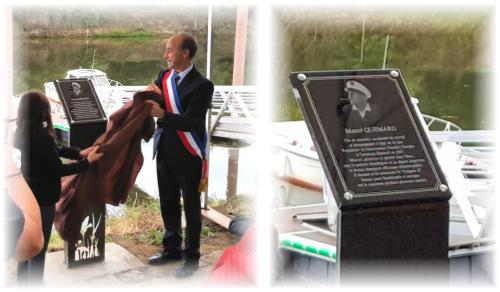 Plaque inauguration Cantenay Epinard et RENAUD Gravure