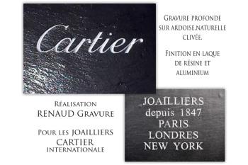Gravure pour Cartier, joailliers et bijoutier depuis 1847