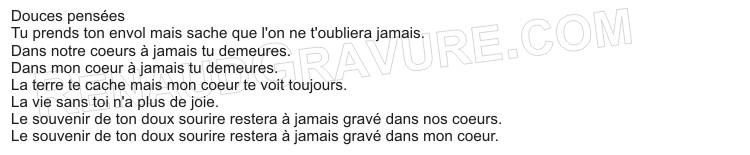 exemples de textes à mettre sur une plaque funéraire